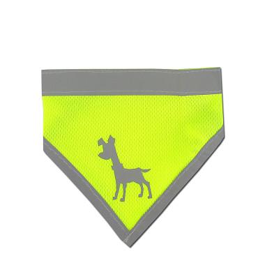 Alcott reflexní šátek pro psy, žlutý, velikost L