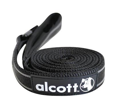 Alcott reflexní vodítko pro psy, černé, velikost S