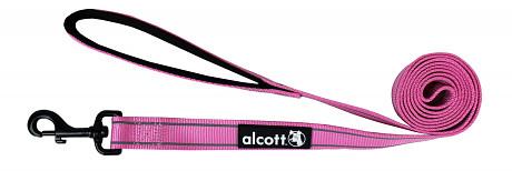 Alcott reflexní vodítko pro psy, růžové, velikost S