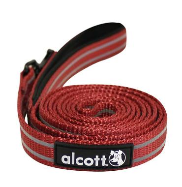 Alcott reflexní vodítko pro psy, červené, velikost M