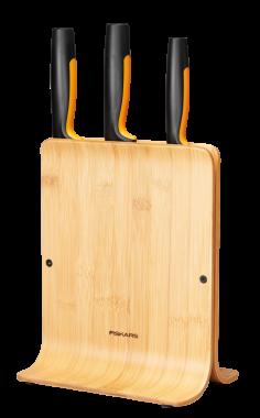 Bambusový blok se třemi noži