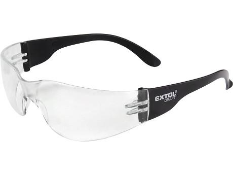 brýle ochranné, čiré, s UV filtrem