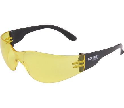 brýle ochranné, žluté, s UV filtrem