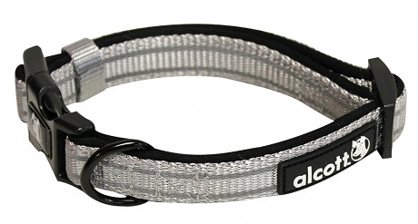Alcott reflexní obojek pro psy, Adventure, šedý, velikost S