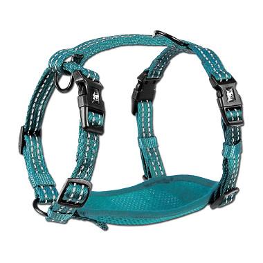 Alcott reflexní postroj pro psy, modrý, velikost S