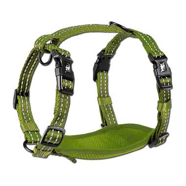 Alcott reflexní postroj pro psy, zelený, velikost L