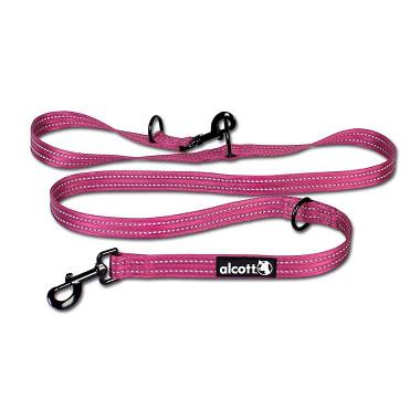 Alcott nastavitelné vodítko pro psy, růžové, velikost M
