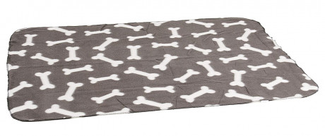 Karlie Fleecová deka šedá kost 100x70cm