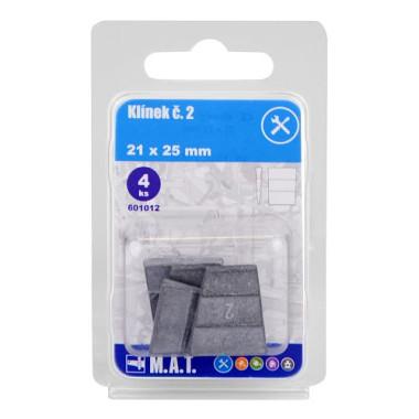 - Klínek č.2, 21x25mm (4ks)