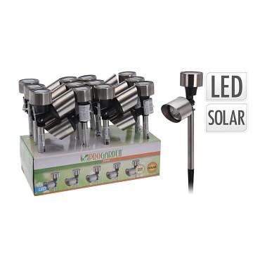 lampa solární 2x1LED pr.5,5cm nerez